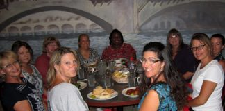 Led by Rebecca Garcia, 2nd from right, back row, Girlfriend Connection meets once a month at Mangia Bene..jpg