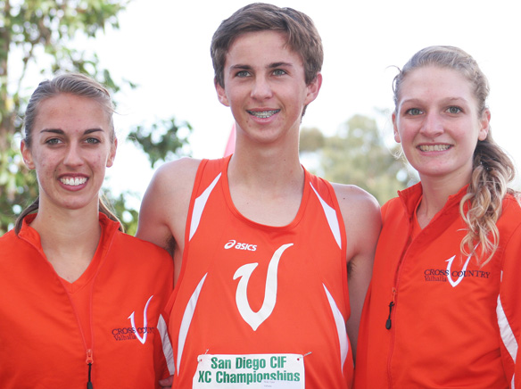 WEBValhalla's state championship meet qualifiers include, from left, Kristin Semancsin, Trent Rule and Shea Ricketts. Photo by Phillip Brents.jpg