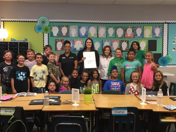 Teacher Grant Recipient Molly Maloy in classroom at Hill Creek fifth grade 2017 2 (002).jpg