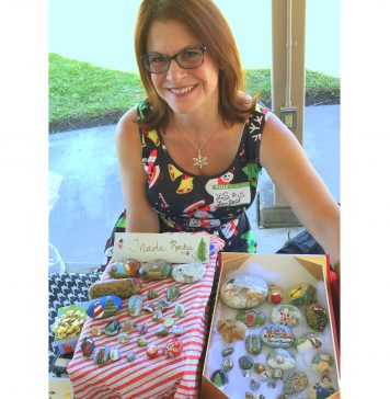WEBLaura Street came to the Rock Party with her painted treasures for trading and display.jpg
